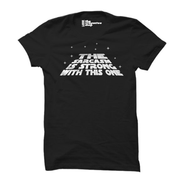 The sarcasm is strong PRINTED T-SHIRT black the crayontee shop