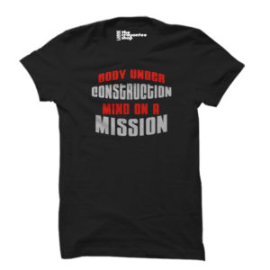 body under construction PRINTED T-SHIRT black the crayontee shop