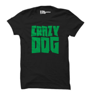 crazy dog PRINTED T-SHIRT black the crayontee shop