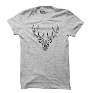 deer PRINTED T-SHIRT grey the crayontee shop