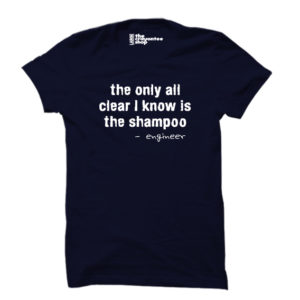 engineering all clear PRINTED T-SHIRT navy blue the crayontee shop
