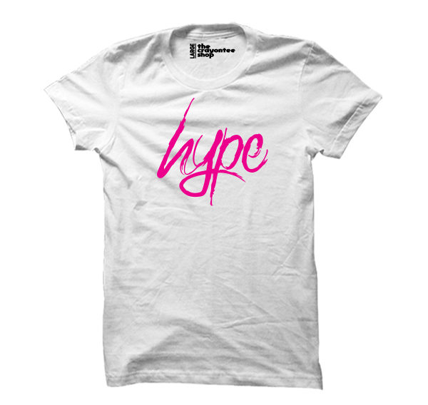 hype PRINTED T-SHIRT white the crayontee shop