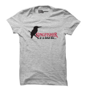 kingfisher is a bird too PRINTED T-SHIRT grey the crayontee shop