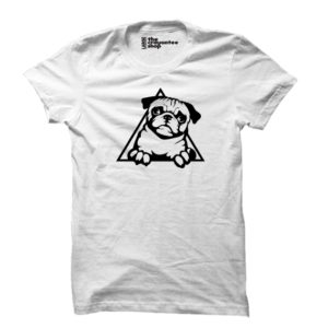 pug love PRINTED T-SHIRT white the crayontee shop
