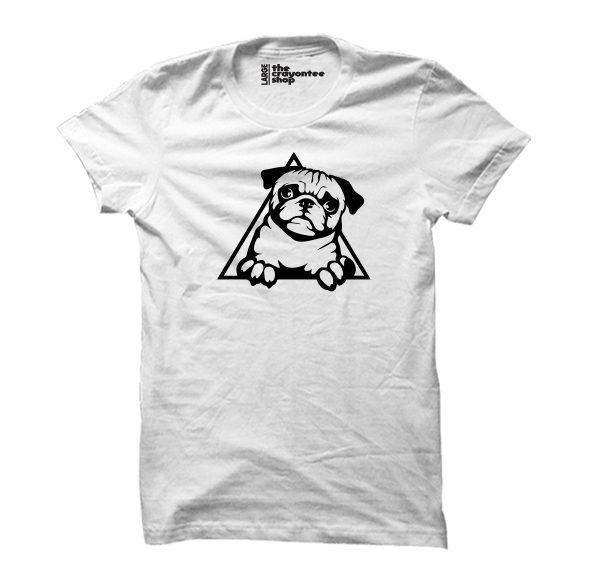pug love white the crayontee shop