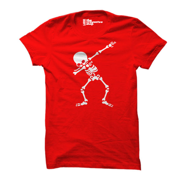 skeleton dab red the crayontee shop