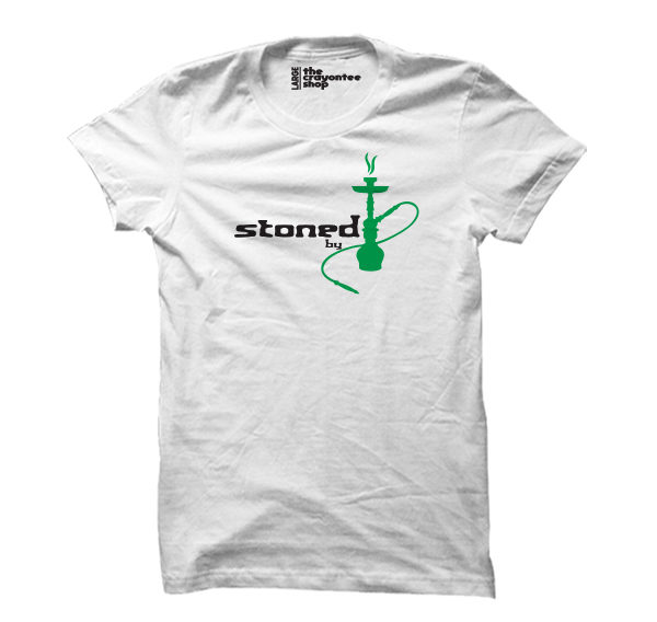 stoned by hookah white the crayontee shop