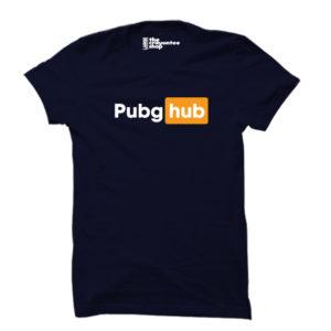 PUBG HUB PRINTED T-SHIRT NAVY BLUE CRAYONTEE