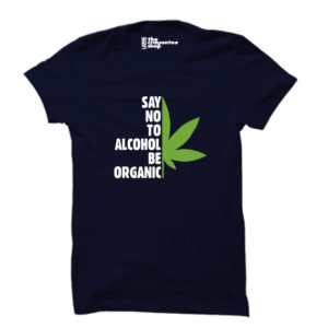 be organic navy blue crayontee